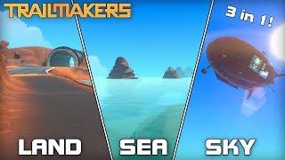 1 Vehicle 3 Races Challenge! [Land / Sea / Sky] (Trailmakers #08)