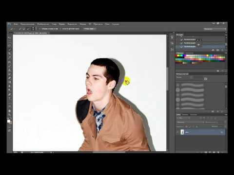 Как обрезать фотографию в Photoshop cs6 // Замена фона