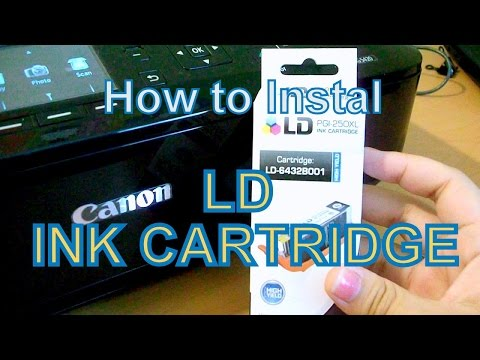 How to Install LD PGI 250 Ink Cartridge on Canon MG5420