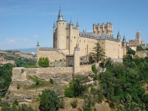 Walt Disney's Castle and The Roman Aqueduct: Segovia, Spain