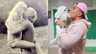 Repeat youtube video RECREATING CUTE COUPLE PHOTOS WITH MY PUPPY
