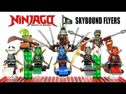 Ninjago Airjitzu 2016 Skybound Flyers LEGO KnockOff Minifigures w/ Lloyd Jay Kai Cole & Zane Set 31