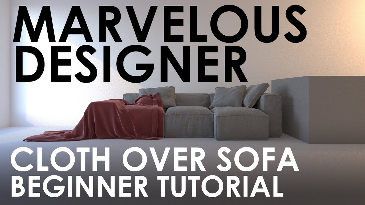 Marvelous Designer Cloth Over A Sofa Beginner Tutorial By Cosmoscube Youtube