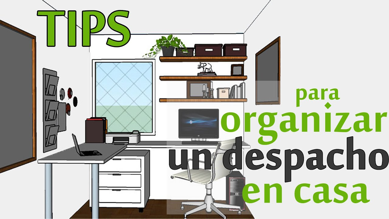 Tips para organizar y decorar un despacho en casa colabo for Muebles para despacho en casa