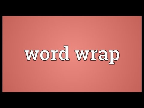Wrapped around meaning in english