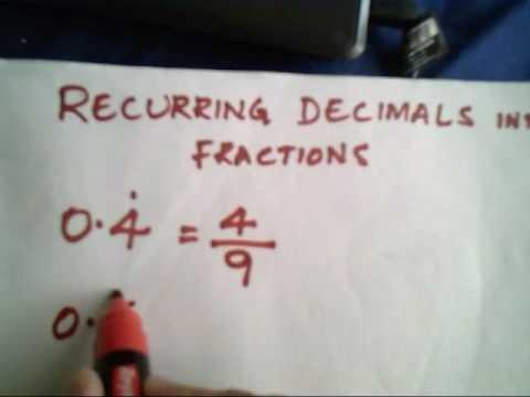 Vedic mathematics - converting recurring decimals into fractions ...