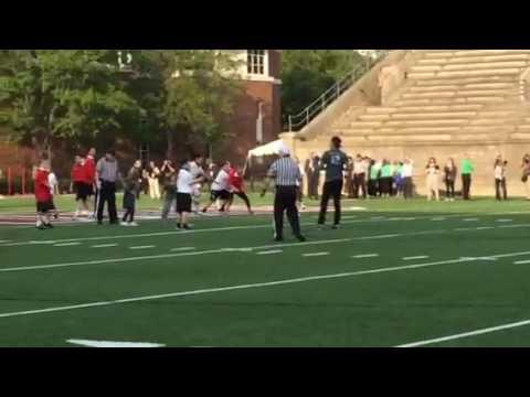 Tom Brady & MPTN Chairman Rodney Butler Touchdown Pass! Best Buddies 6/3/16