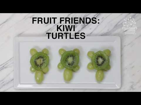 Kids Fruit Friends: How to Make Turtle Fruit Art