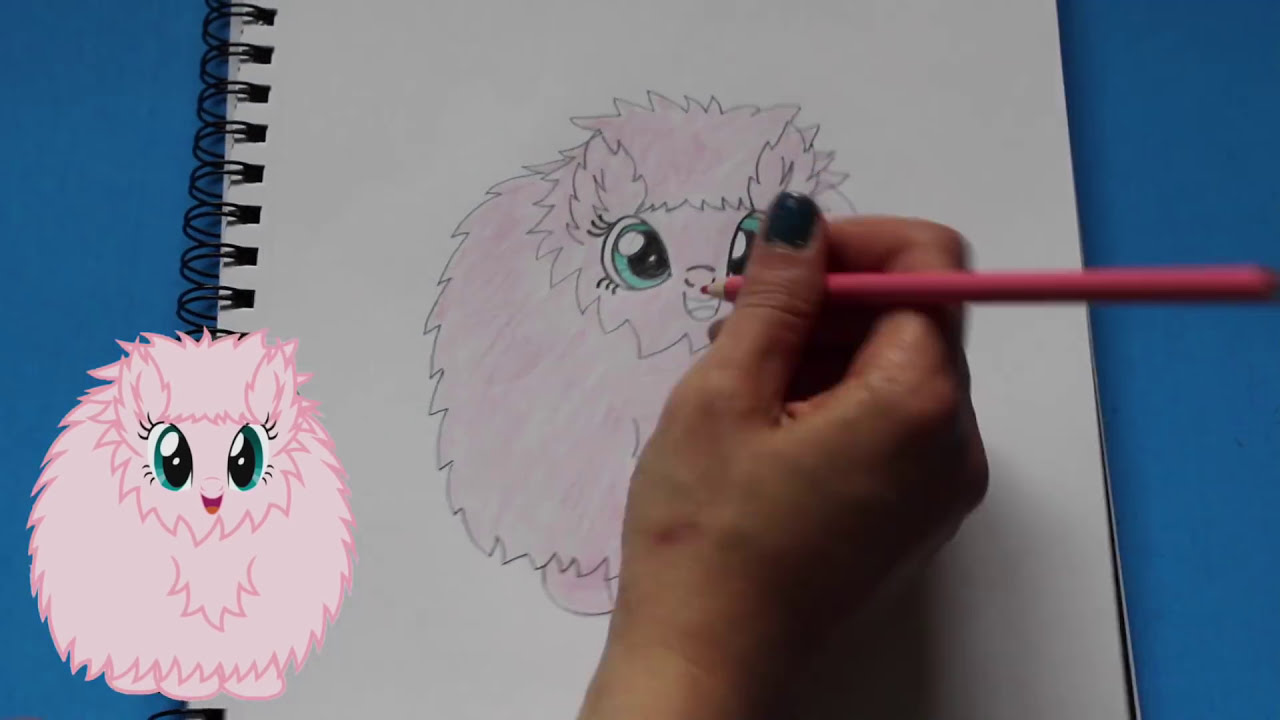 how to draw my little pony fluffle puff character step by step easy mlp toy caboodle