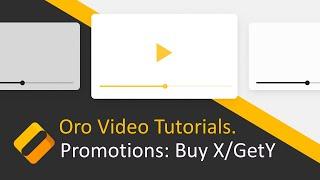 كيفية إنشاء شراء/X على Y الترقية في OroCommerce