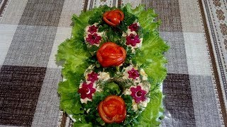 Вкусный и Очень Нежный Салат к 8 Марта из Индейки ,Адыгейского Сыра и Кукурузы
