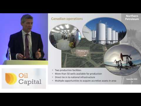 Northern Petroleum CEO Keith Bush presents to investors at the Oil Capital Conference