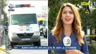 Stirile Kanal D(08.09.2020) - Bancomate aruncate in aer la Otopeni! Editie de pranz