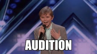 Patches 13-Year-Old Rap Original America's Got Talent 2018 Audition|GTF