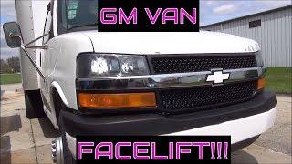 Composite headlight conversion: 03-19 Chevy Express / GMC Van, Box truck, RV Savana Front end swap
