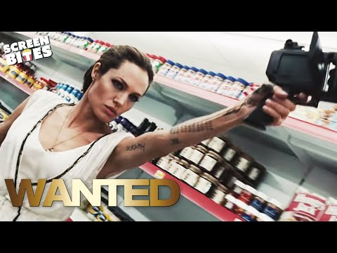 Wanted  Angelina Jolie and  James McAvoy Supermarket Scene  HD