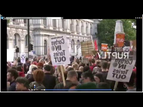 . LIVE: Protesters gather in Downing Street 10 to demand Theresa