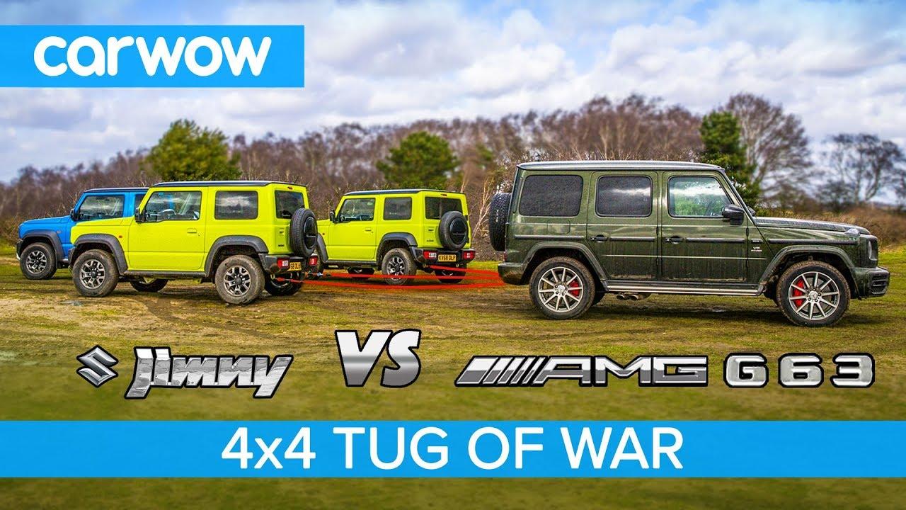 Mercedes-AMG G63 vs Suzuki Jimny - TUG OF WAR