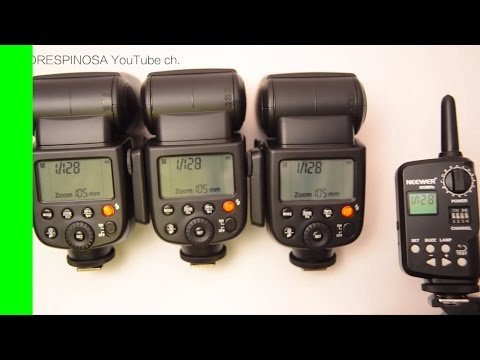 Godox V850 / NEEWER TT850 Flash FT-16 TX / FT-16s RX Ojeco H-550 H-430 review and how to Canon Nikon