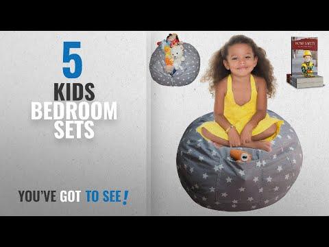 Kids Bedroom Sets [2018]: Parent's Proven DaMeru EXTRA LARGE Stuffed Animal Storage Bean Bag Cover |
