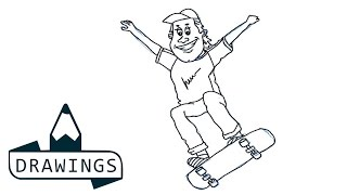 Speed drawing : How to draw a Skater boy