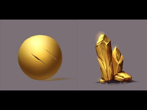 Materials - Gold - Paint tool Sai - YouTube
