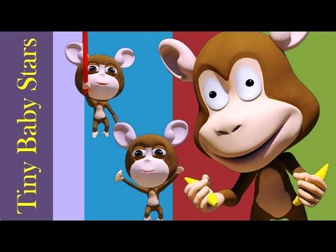 Five Little Monkeys Jumping On The Bed | Nursery Rhymes for Children | HD From Tiny Baby Stars