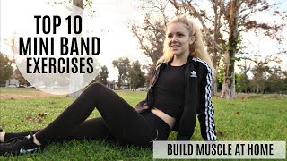 Top 10 Mini Band Exercises For At-Home Muscle Building | MFit