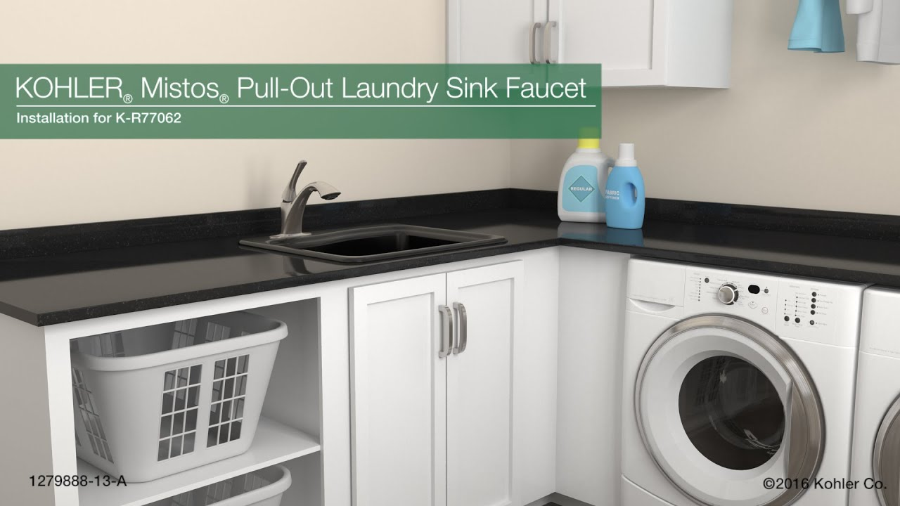 installation mistos pull out laundry sink faucet