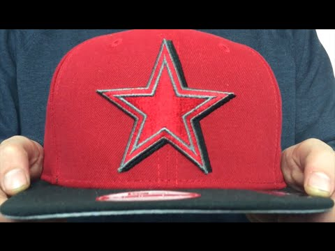 Cowboys  SHADOW SLICE SNAPBACK  Red-Black Hat by New Era - YouTube cdfeb9191e34