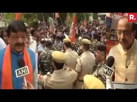 High Drama In New Delhi - BJP Vs Left