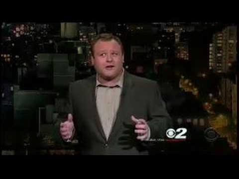 Frank Caliendo on Letterman Show during Impressionist Week