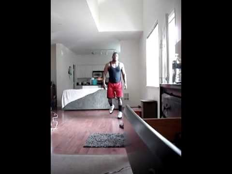 Me at Home** How to get a 40inch vertical jump @ Home. (Nate Robinson bounce)