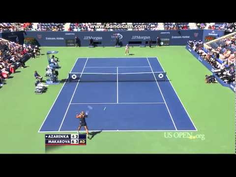 Ekaterina Makarova vs Victoria Azarenka US Open 2014 QFHighlights (HD)