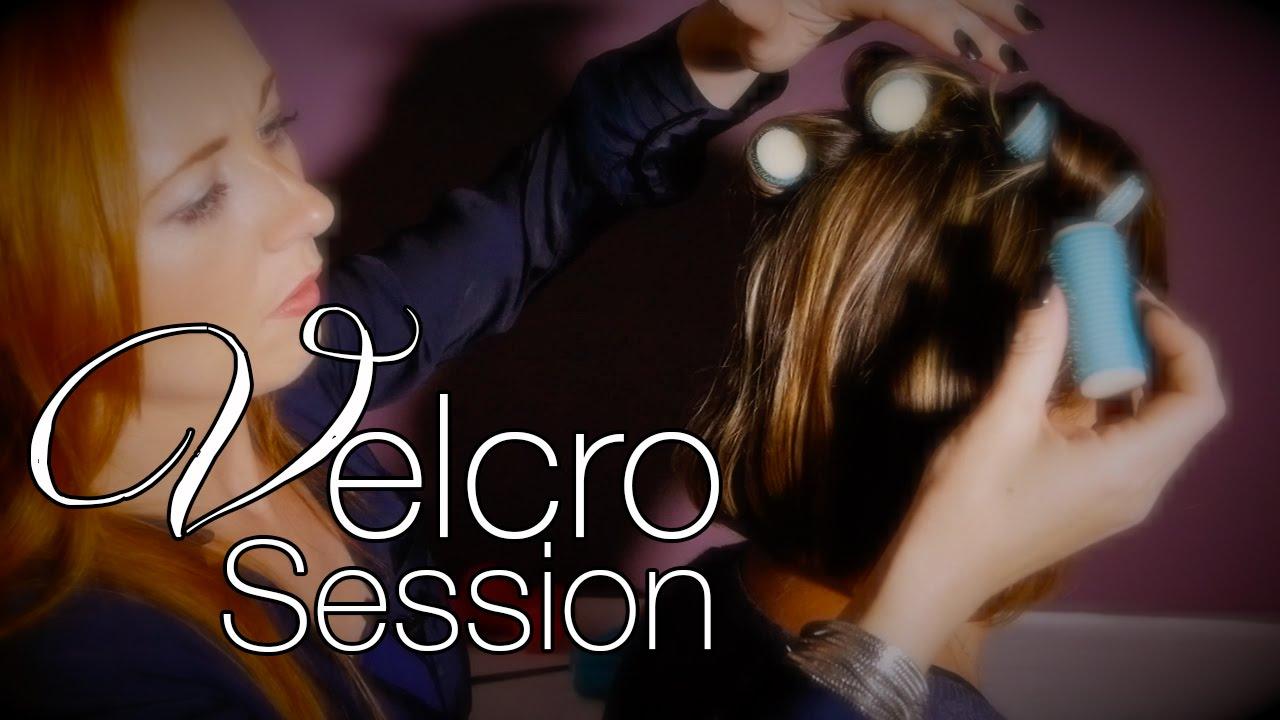 ASMR Hair Rollers Session | Brushing, Hair Play, Velcro ...