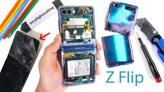 Samsung Galaxy Z Flip Teardown! - Where is the Glass?!