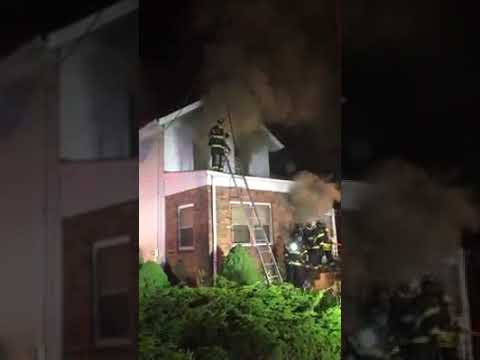 Flames ravaged what responders said was a cluttered New Milford home Thursday night.