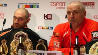 TRAINERS PETER FURY & JONATHON BANKS GIVE THEIR TAKE ON WLADIMIR KLITSCHKO v TYSON FURY - POST FIGHT