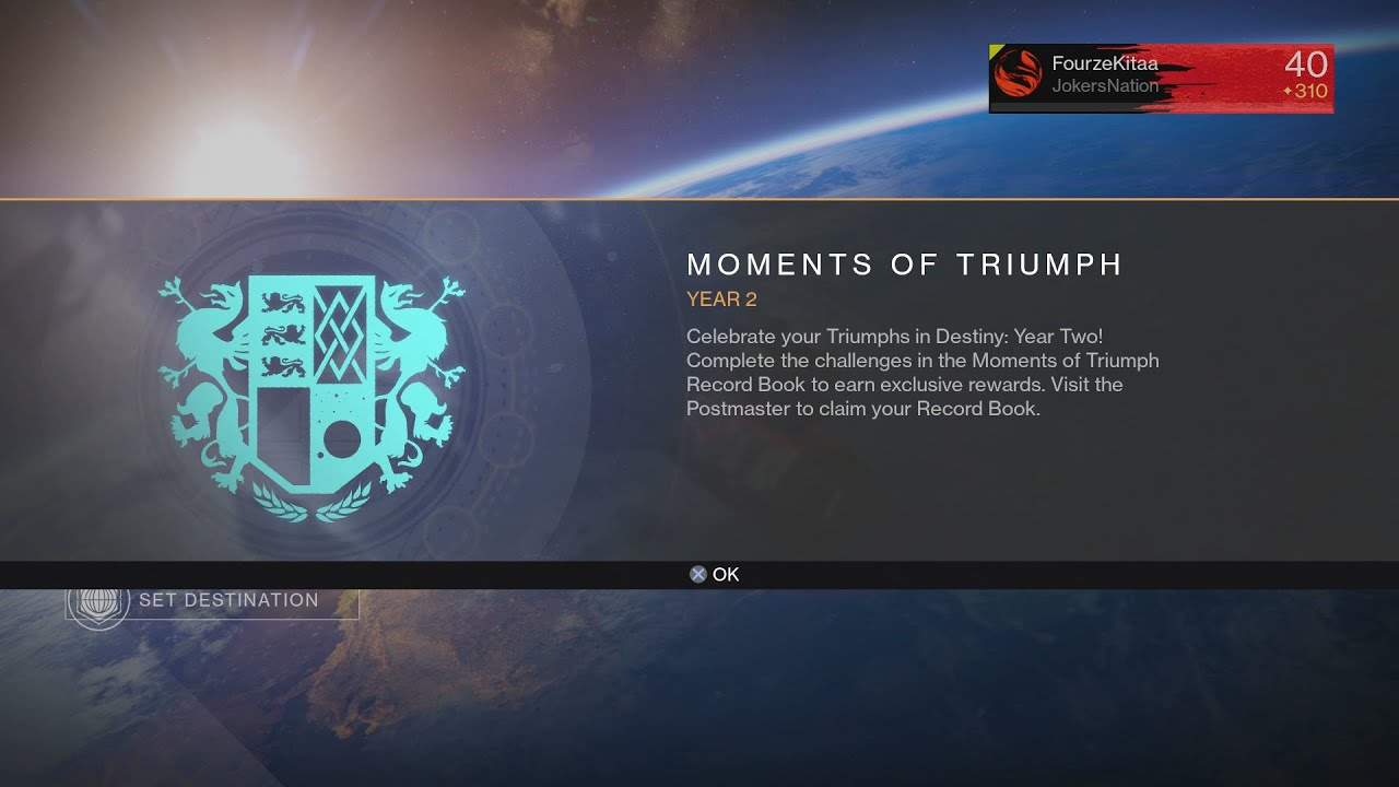 destiny the taken king - moment of triumph for year 2 - youtube