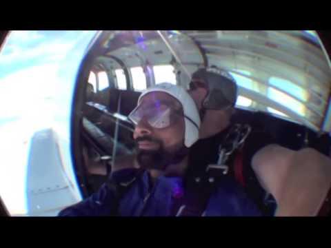 swaraj sharma sky diving newzealand