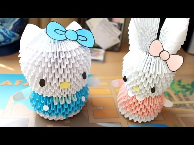 Hello Kitty ORIGAMI - YouTube