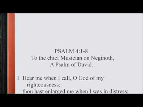 Psalm 4:1-8 ♩♫ KJV Scripture Song, Full Chapter Verbatim