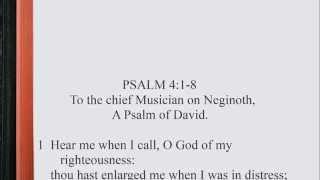 Psalm 4:1-8 ♪♩ KJV Scripture Song, Full Chapter Verbatim