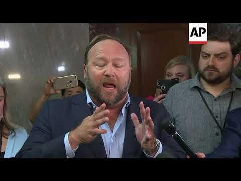 Infowars' Alex Jones crashes social media hearing