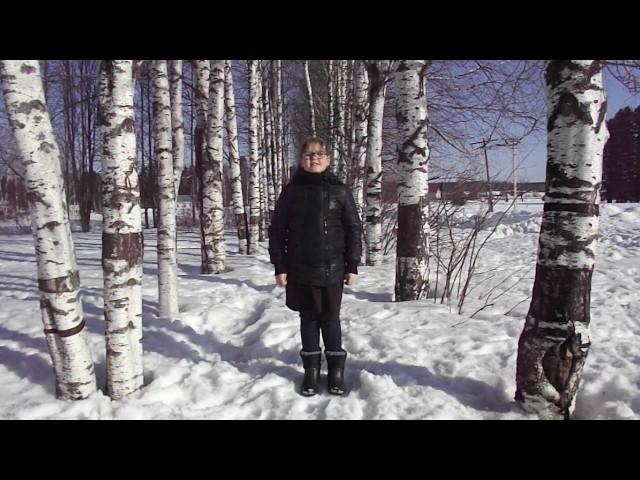 Изображение предпросмотра прочтения – АлисаИванова читает произведение «Весна (Зима не даром злится…)» Ф.И.Тютчева