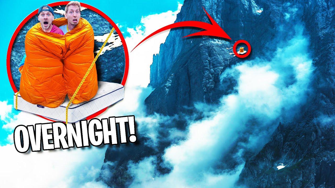 Overnight Survival on Dangerous Side of Cliff!