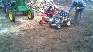 Pedal Tractor Race
