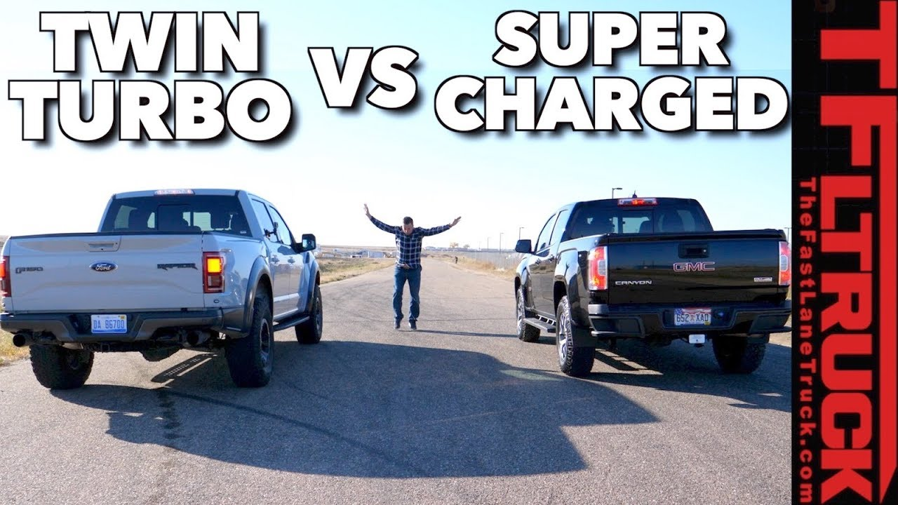 Ford Raptor Vs Supercharged Gmc Canyon Drag Race Which V6 Is