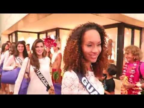 Miss France 2016 : Arrivée des Miss à l'aéroport de Tahiti-faa'a