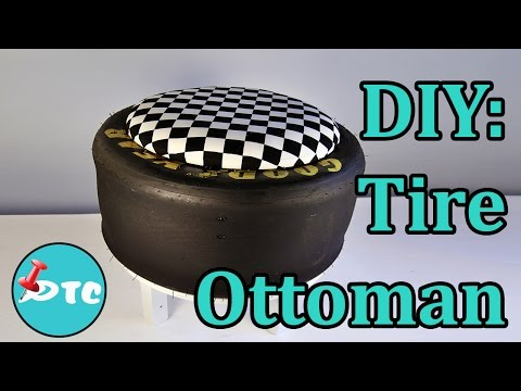 How to Recycle your Old Tire into a DIY Ottoman